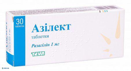 Азилект таблетки 1 мг №30