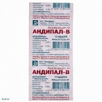 Андипал B таблетки №10