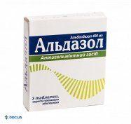 Препарат: Альдазол таблетки, п/о 400 мг №3