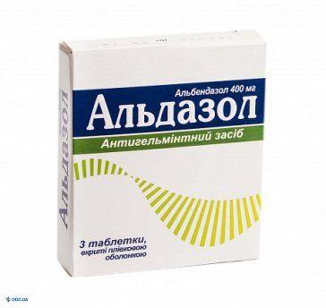 Альдазол таблетки, п/о 400 мг №3