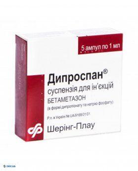 Дипроспан суспензия для инъекций ампула 1 мл, №5