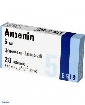 Алзепил таблетки, п/о 5 мг №28