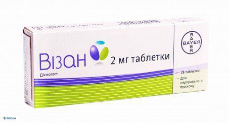 Визан таблетки 2 мг №28