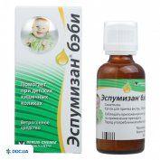 Препарат: Эспумизан беби капли оральные, эмульсия 100 мг/мл флакон 50 мл