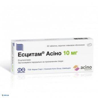 Эсцитам Асино таблетки 10 мг, №30