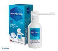 Препарат: Гексаспрей аэрозоль 750 мг
