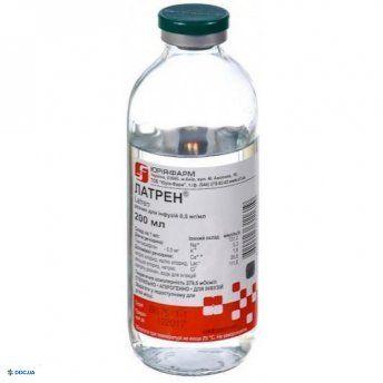 Латрен раствор инфузионный 0,5 мг/мл 200 мл