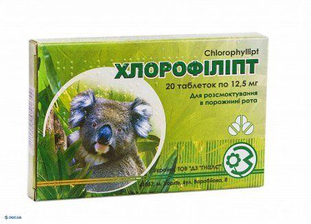 Хлорофиллипт таблетки 25 мг, №20