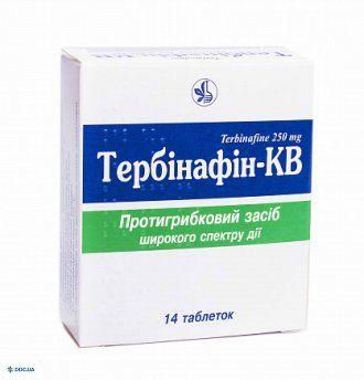 Тербинафин-КВ таблетки 250 мг, №14