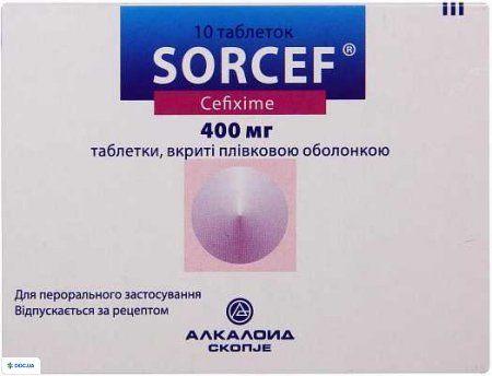 Сорцеф таблетки 400 мг №10