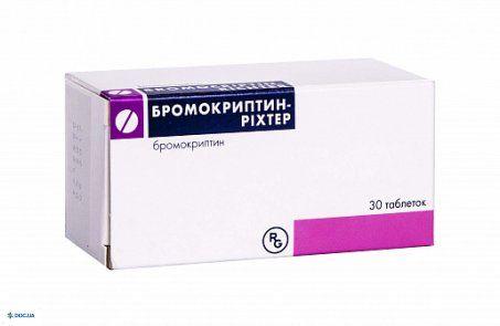 Бромокриптин-Рихтер таблетки 2,5 мг, №30