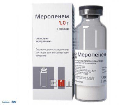Меропенем - Фармалайф порошок для раствора для инъекций 1000 мг
