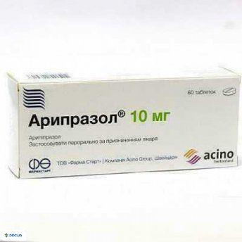 Арипразол таблетки 10 мг №60