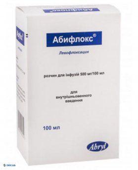 Абифлокс раствор 500 мг/100мл 100 мл