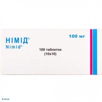 Нимид таблетки 100 мг №100