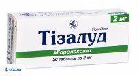 Препарат: Тизалуд таблетки 2 мг №30
