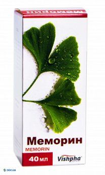 Меморин капли оральные 40 мг/мл флакон 40 мл, №1