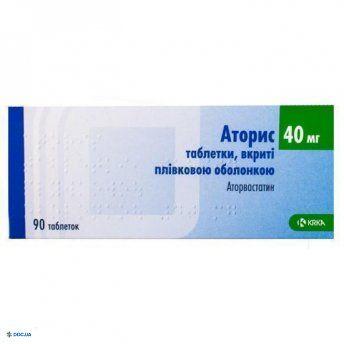 Аторис таблетки, п/о 40 мг, №90