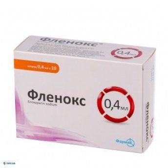 Фленокс раствор 4000 анти-Ха МЕ/0,4 мл №10