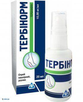 Тербинорм спрей 10,08 мг/мл  20 мл