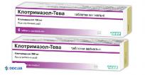 Препарат: Клотримазол-Тева таблетки вагинальные 100 мг №6