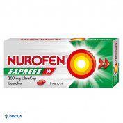 Препарат: Нурофен Экспрес Ультракап капсулы мягкие 200 мг, N10
