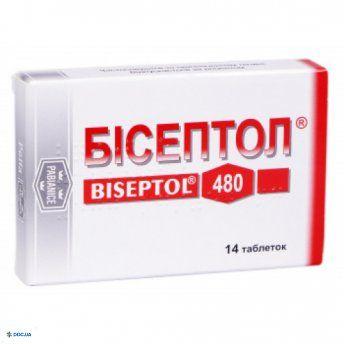 Бисептол таблетки 480 мг, №14
