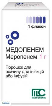 Медопенем пор./ин. 1000 мг флакон, №1
