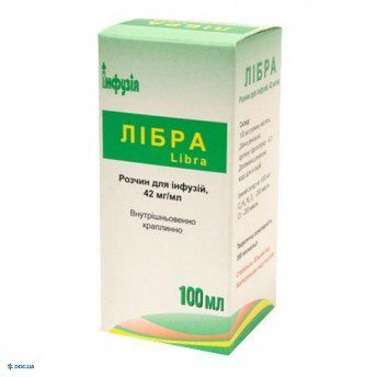 Либра раствор для инфузий 42 мг/мл 100 мл