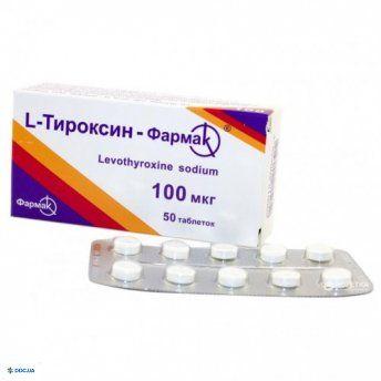 L-тироксин-Фармак таблетки 100 мкг №50