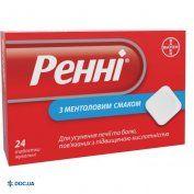 Препарат:  Ренни таблетки жевательные ментол №24