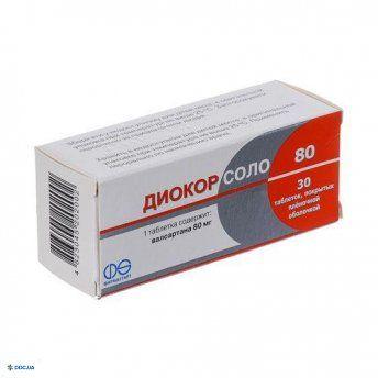 Диокор Соло п/о 80 мг №30
