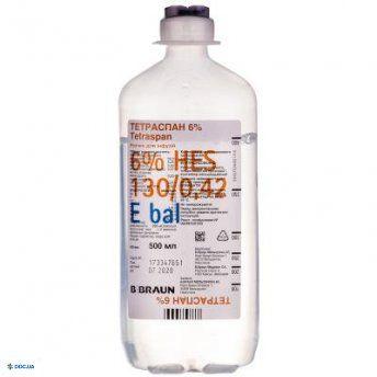 Тетраспан 6% раствор для инфузий 500 мл №10
