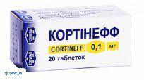 Препарат: Кортинефф таблетки 0,1 мг флакон №20