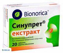 Препарат: Синупрет экстракт  таблетки, покрытые оболочкой 160 мг блистер, №20