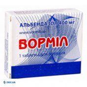 Препарат: Вормил таблетки жевательные 400 мг №1