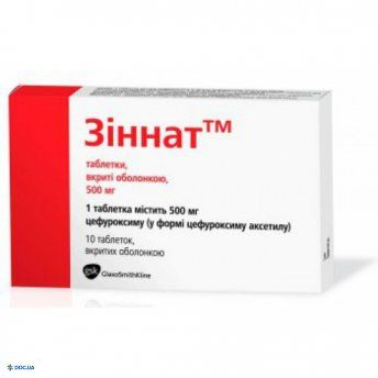 Зиннат таблетки 500 мг №10
