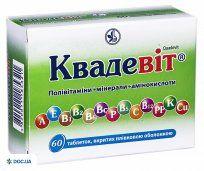 Препарат: Квадевит таблетки №60