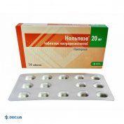 Препарат: Нольпаза таблетки 20 мг, N14