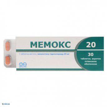 Мемокс таблетки 20мг №30