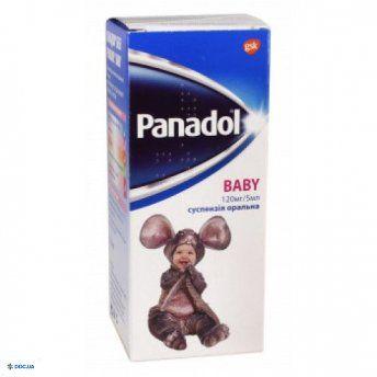 Панадол Беби суспензия оральная 120 мг/5 мл флакон 100 мл