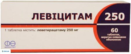 Левицитам таблетки 250 мг №60