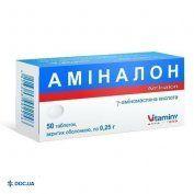 Препарат: Аминалон таблетки, п/о 0,25 г №50