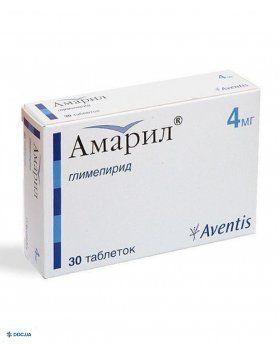 Амарил таблетки 4 мг №30