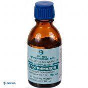 Препарат: Клотримазол раствор 1 % флакон 25 мл