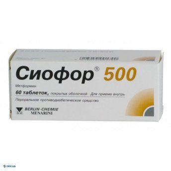 Сиофор таблетки 500 мг №60
