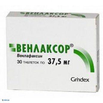 Венлаксор таблетки 37,5 мг, №30