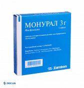 Препарат: Монурал гранулы 3 г №1