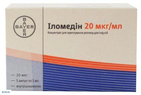 Иломедин концентрат для инфузий 20 мкг/мл ампула 1 мл №5