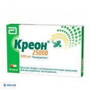Препарат: Креон 25 000 капсулы 300 мг №20